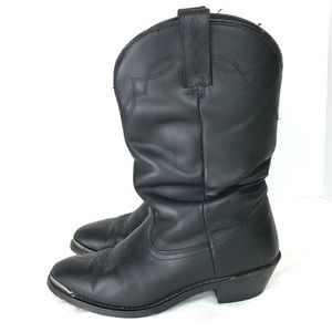Shyanne Slouch Western Boots Black Leather Sz 7.5